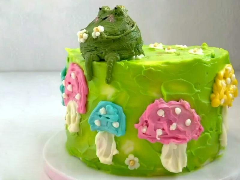 Морковный бенто торт рецепт frog cake