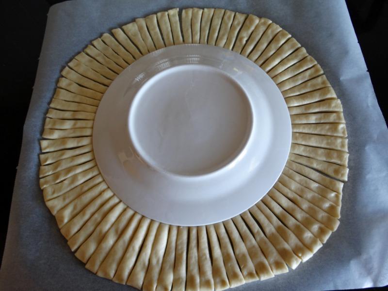 Пирог косичка из дрожжевого теста с творожной начинкой