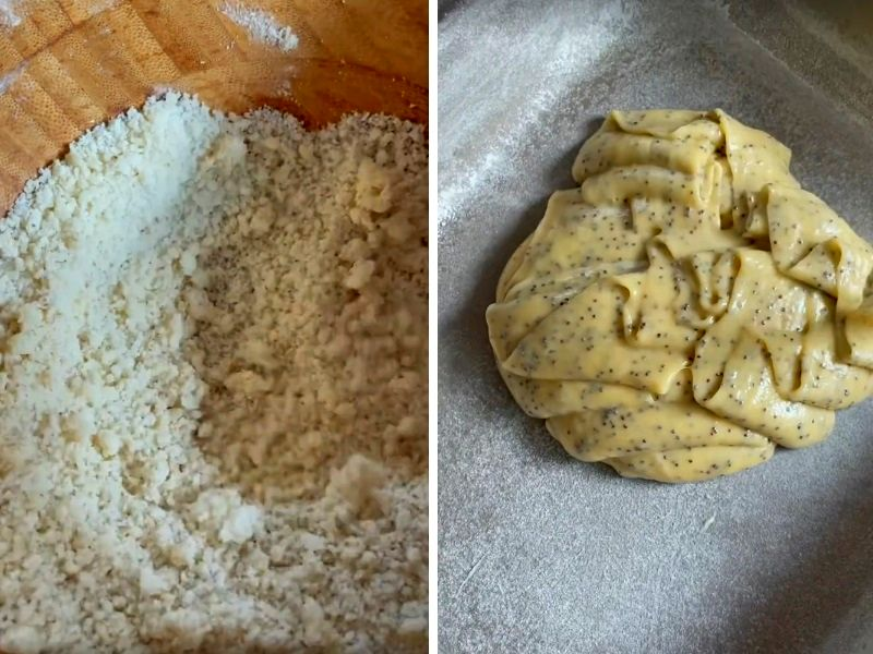 Пирог со сливами и штрейзелем пошагово с фото