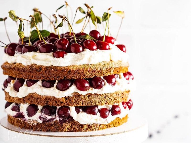Рецепт Хлебного торта с ржаной мукой и вишней