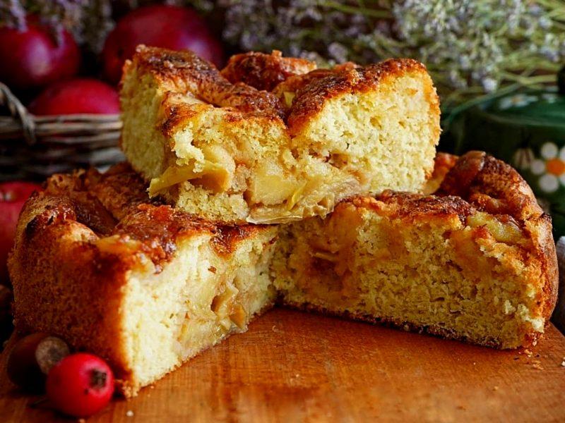 Рецепт яблочной шарлотки пошагово