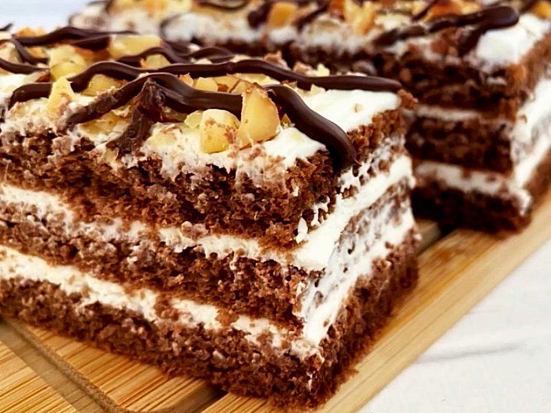 Шоколадное ПП пирожное