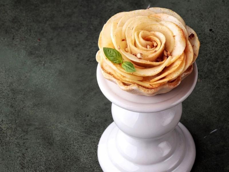 Тарталетки с пряными яблоками и муссом рецепт