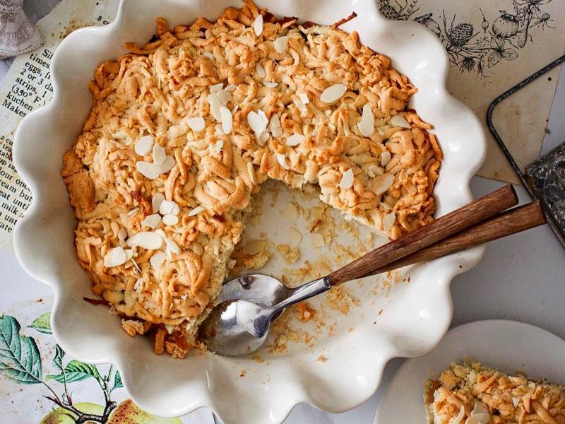 пирог с яблоками с тертым тестом в духовке