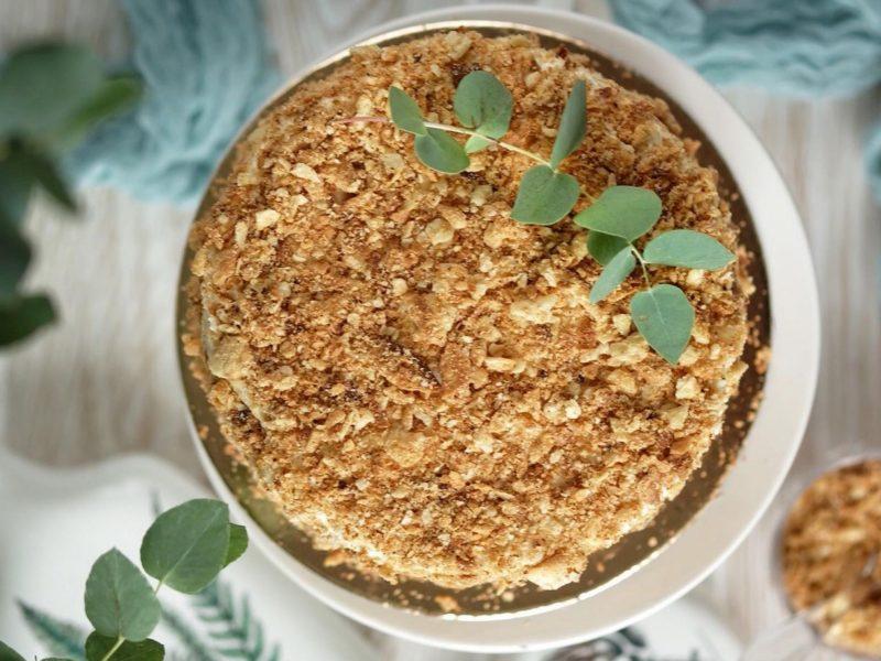 Торт Наполеон с Ванильным кремом Пломбир рецепт пошагово