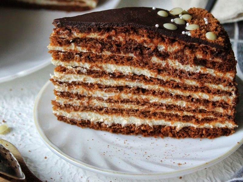 Торт Медовик Шоколадный со сметанным кремом рецепт