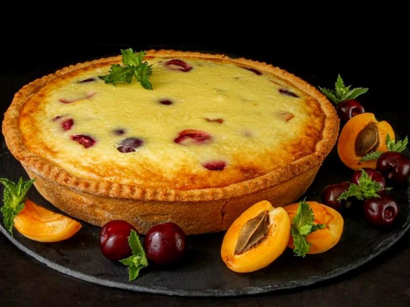 Вкусный пирог со сметанной заливкой