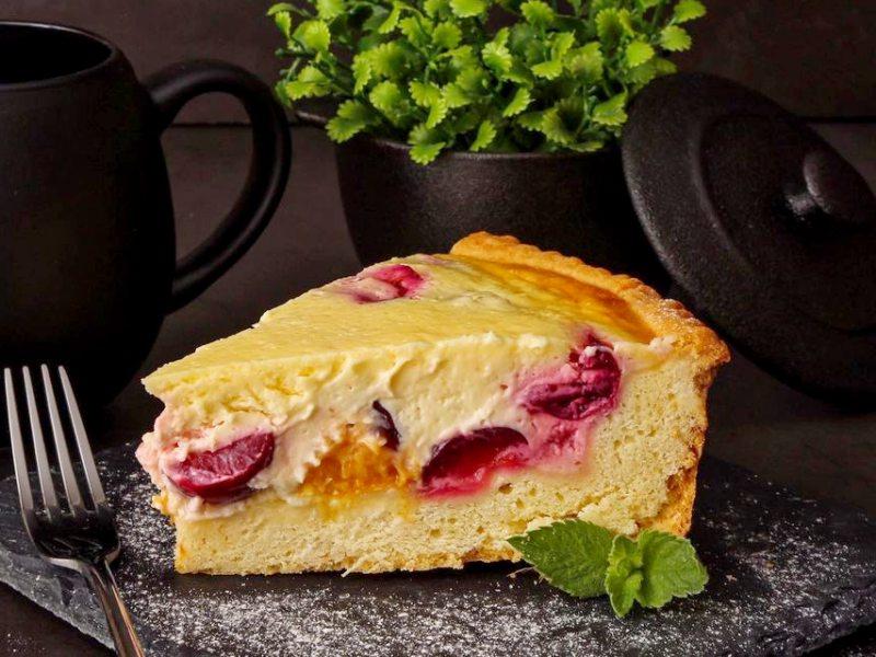 Вкусный пирог со сметанной заливкой рецепт