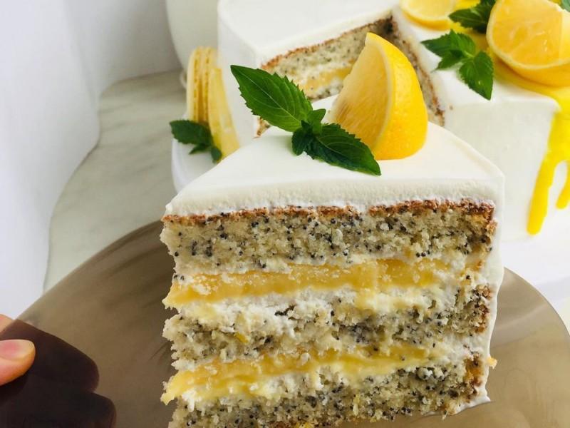 Лимонно-маковый торт рецепт