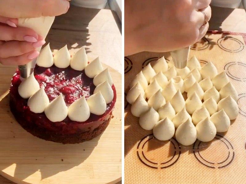 шоколадный муссовый торт с вишней