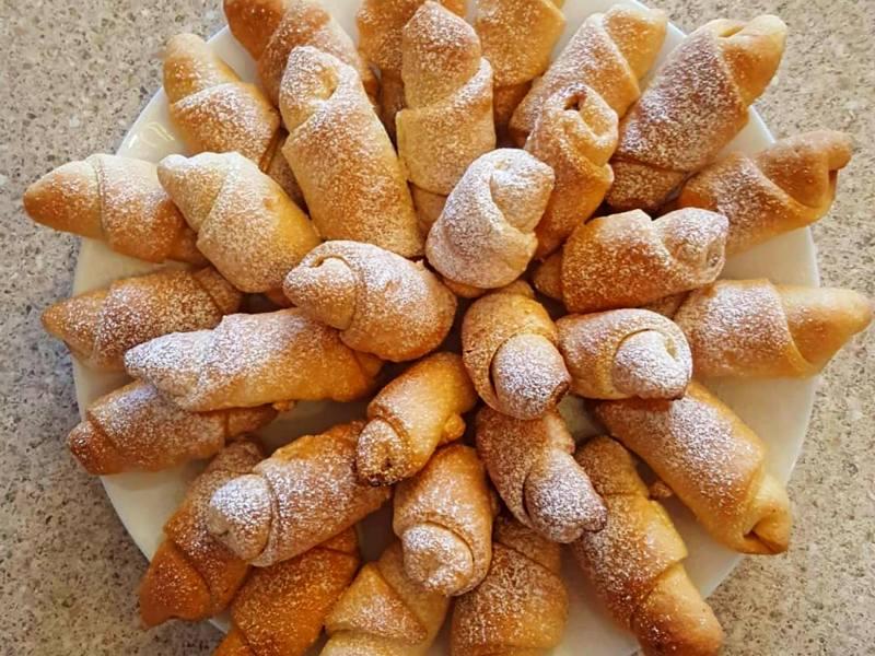 Ореховые трубочки рецепт 🌰 Рогалики с ореховой начинкой