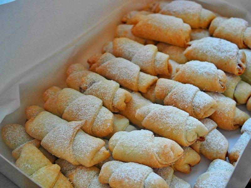 трубочки с ореховой начинкой рецепт