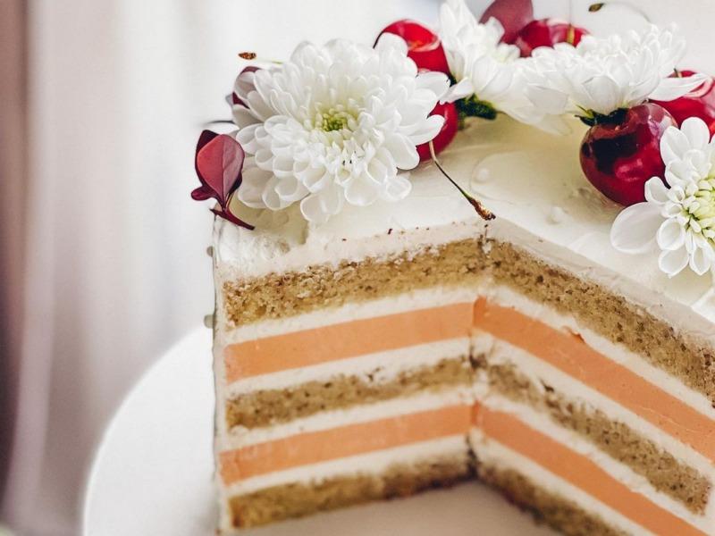 персиковая прослойка для торта