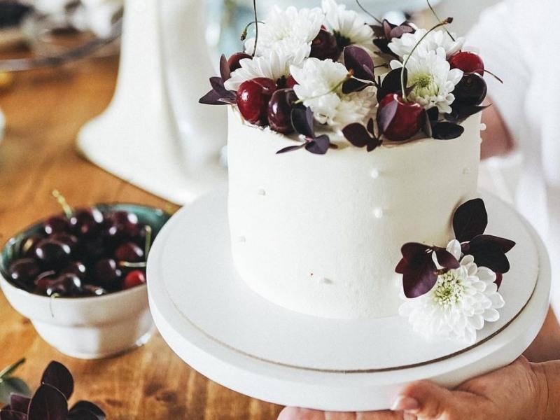 творожно персиковый торт