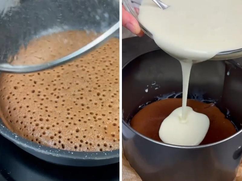 торт на сковороде со сметаной домашний простой