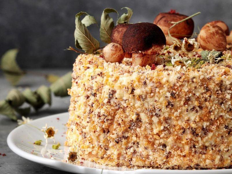 рецепт торта трухлявый пень в домашних условиях
