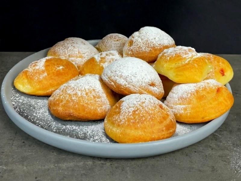 Заварные булочки рецепт со сметанным кремом и джемом